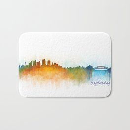Sydney City Skyline Hq v3 Bath Mat
