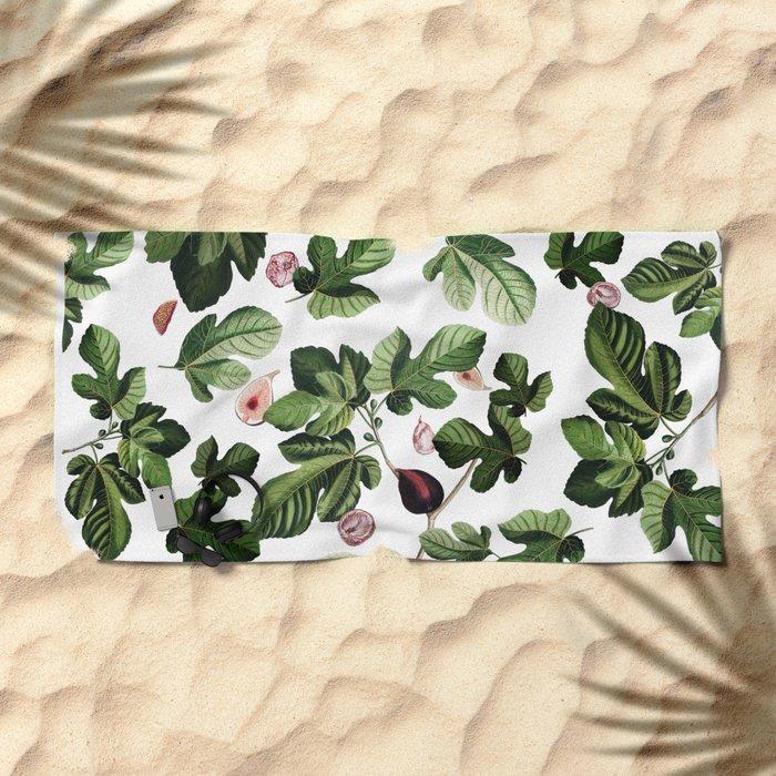 Figs White Beach Towel