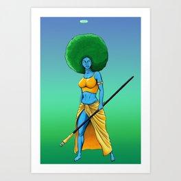 Art Is War (Her) Art Print