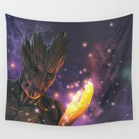 groot Wall Tapestries featuring Groot by Aferova