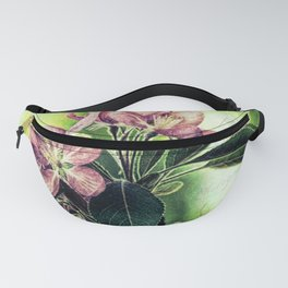 Rustic Dark Pink Flowers Modern Cottage Chic Country Art A139 Fanny Pack