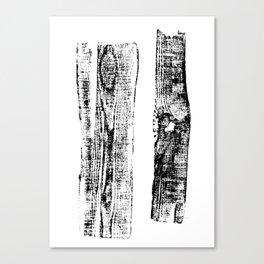 Fragment logs Canvas Print