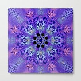Pink, purple and sand kaleidoscope Metal Print