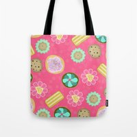cookies Tote Bags featuring Cookies by Party Peeps