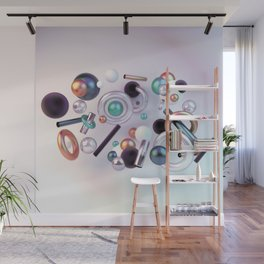 3D Posh geometry Wall Mural