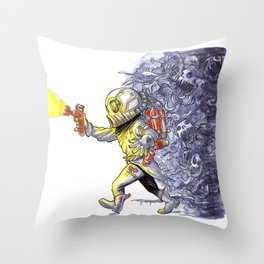 Candy-Trooper, Out of the Dark Throw Pillow