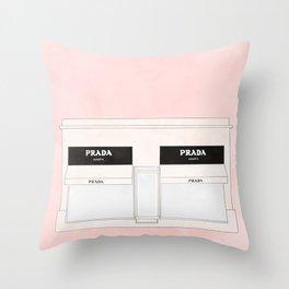pink marfa watercolor illustration Throw Pillow