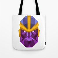 thanos Tote Bags featuring THANOS by rybbrybson