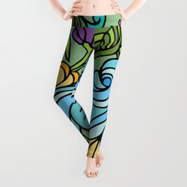 Flower Power & Spiral Waves Leggings