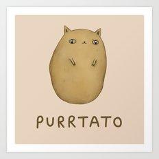 Purrtato Art Print