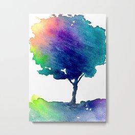 Hue Tree Metal Print