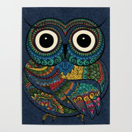 Bohemian Owl Poster