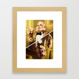Colonel Mustard Framed Art Print