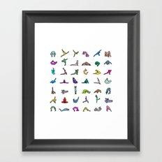 Rainbow Yoga Poses Framed Art Print