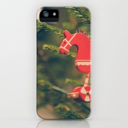decor hanged on christmas tree iPhone Case