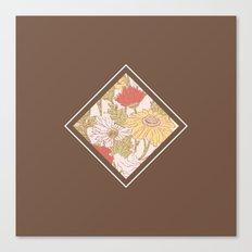 Floribus Quadratum Canvas Print