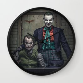 The Jokers in color Wall Clock