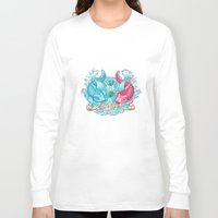pisces Long Sleeve T-shirts featuring Pisces by StudioBlueRoom