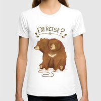 fitness T-shirts featuring Fitness Bear by sociopteryx