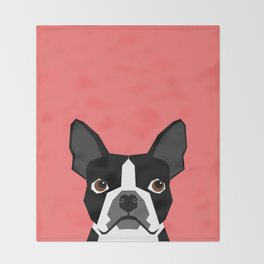 Kennedy - Boston Terrier cute dog themed gifts for small dog owners and Boston Terrier gifts  Throw Blanket