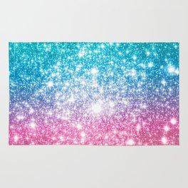 Mermaid Galaxy Sparkle Stars Rug