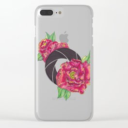 Floral Shutter Clear iPhone Case