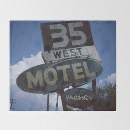 35 West Motel Throw Blanket