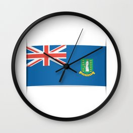 Flag of British Virgin Islands. The slit in the paper with shadows.  Wall Clock
