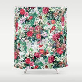 Leopards and Flowers Shower Curtain