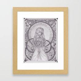 Art Nouveau Girl Framed Art Print