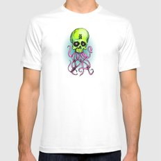ä Skull SMALL White Mens Fitted Tee