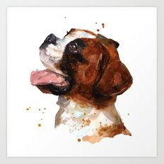 BOXER Dog painting, boxer dog print, dog breeds , cute puppy art Art Print