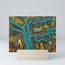 """Turquoise Heart"" by ICA PAVON Mini Art Print"