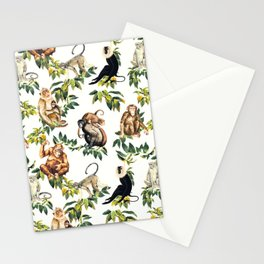 Monkeys, orangutans and more Stationery Cards
