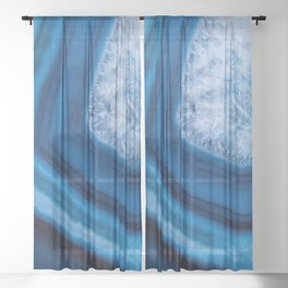 Blue Agate Geode Sheer Curtain