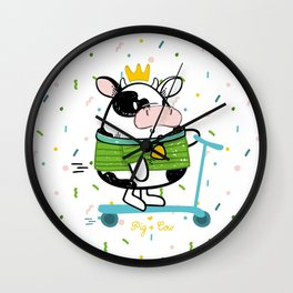 Little princess by Pig & Cow Wall Clock