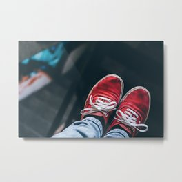 Feet Were Made to Wander Metal Print
