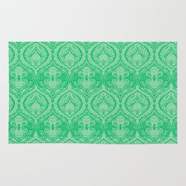 Simple Ogee Green Rug
