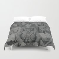 office Duvet Covers featuring Office Politics by LeeBoydArtist
