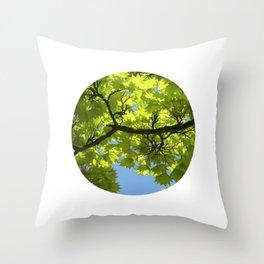 green maple tree XIII Throw Pillow