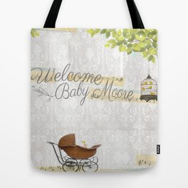 Welcome baby Tote Bag