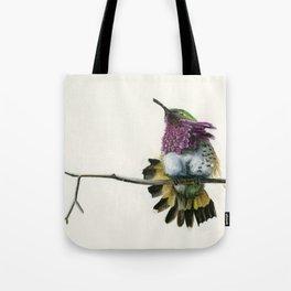 Hummingbird on a branch Tote Bag