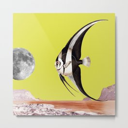 Plenty of fish in the sea yellow Metal Print