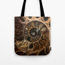 Earth treasures - Fossil in brown tones Tote Bag