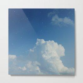 Cumulonimbus Clouds and Stars Metal Print
