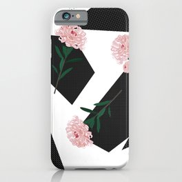 Polka Dots And Flowers iPhone Case