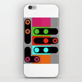 points et lignes 4 iPhone Skin