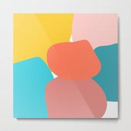 Abstract pastel collors Metal Print