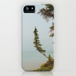 Lone Pine at Bow Lake iPhone Case