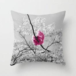 Sakura Blossom Throw Pillow